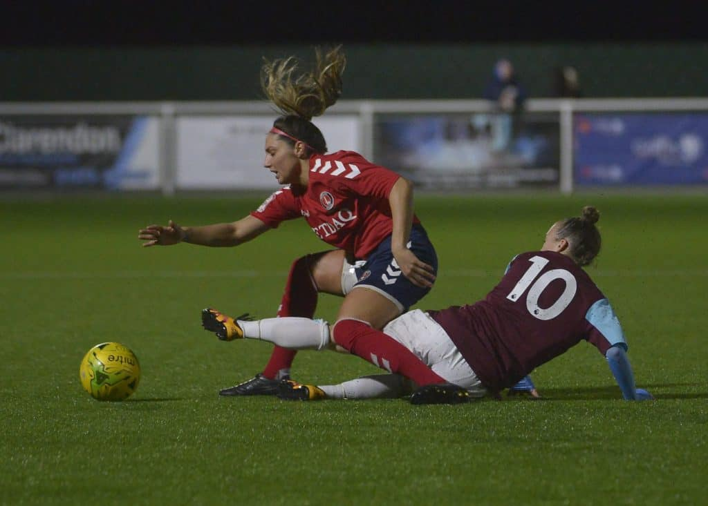 west ham goodmove womens cup tackle