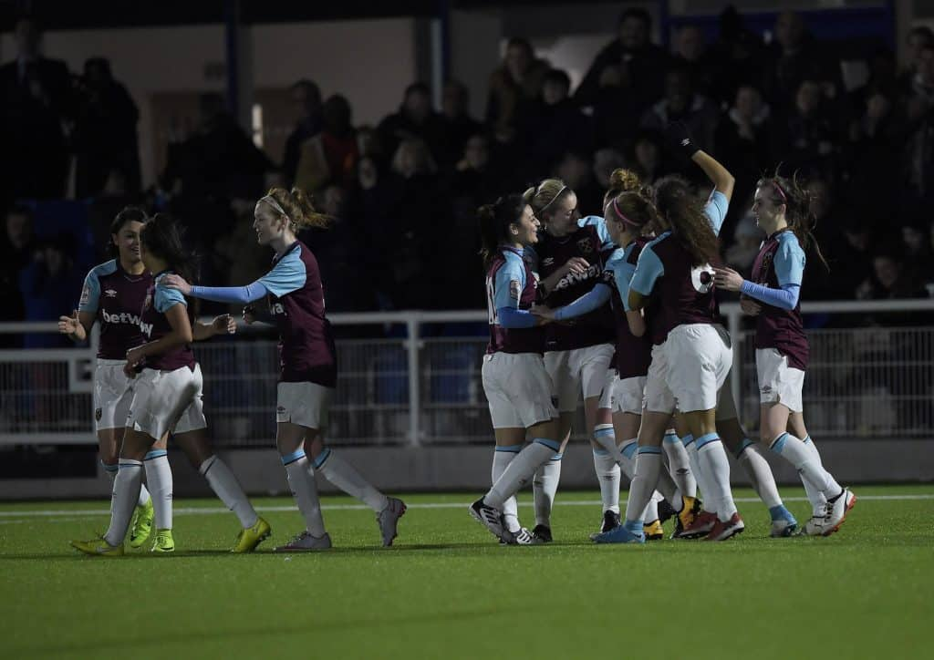 west ham goodmove womens cup celebration