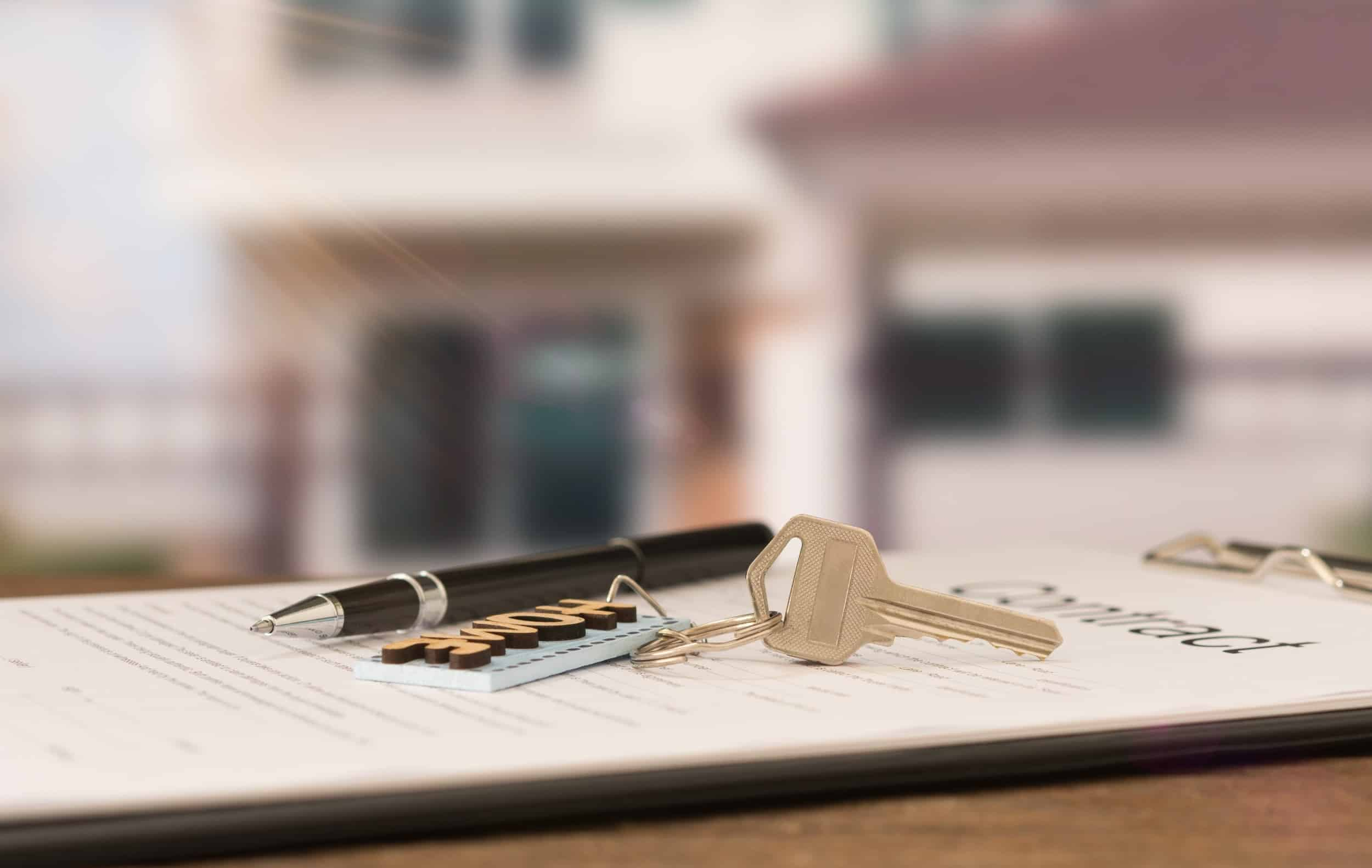 house keys and rental agreement
